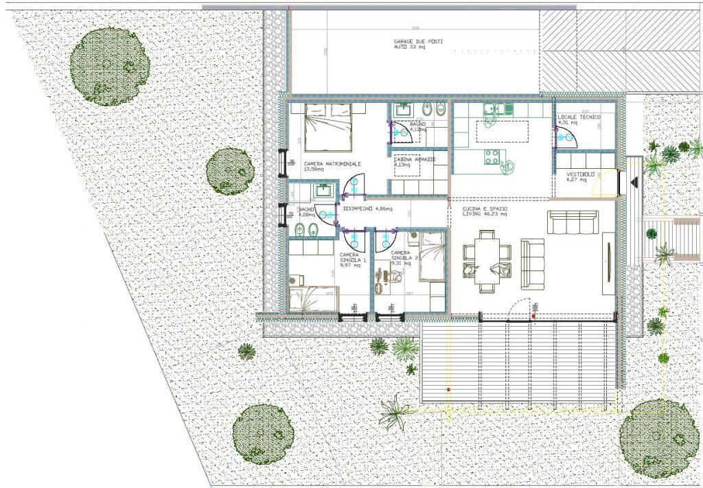 Villa 7 pianta